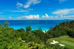 塞舌尔群岛-其中一个最后天堂 图库摄影