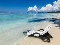 塞舌尔锡卢埃特岛海滩 库存照片