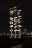 塞萨罗尼基伞雕塑 库存照片