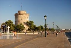 塞萨罗尼基塔白色 免版税库存图片