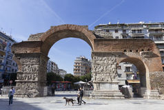 塞萨罗尼基希腊Galerius 免版税库存照片