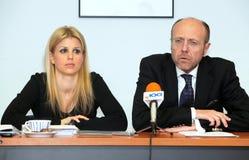 塞萨罗尼基的局部委员会会议  免版税库存照片
