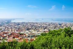 塞萨罗尼基,希腊全景  免版税库存照片