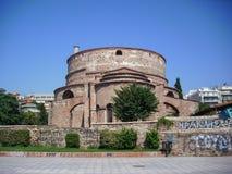 塞萨罗尼基,希腊- 2014年6月07日:亦称圆形建筑的Galerius贴水乔治斯是最旧的纪念碑在塞萨罗尼基市 免版税图库摄影