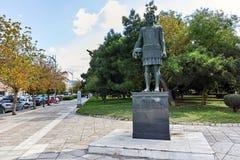 塞萨罗尼基,希腊- 2017年9月30日:Macedon纪念碑的腓力二世在市的堤防的塞萨罗尼基,中马其顿 库存照片