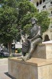 塞萨罗尼基,希腊- 2016年9月04日:亚里斯多德雕象中心广场的 库存照片
