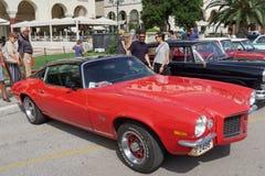 塞萨罗尼基,希腊- 2016年9月18日:雪佛兰Camaro 350 LT历史的汽车 免版税库存图片