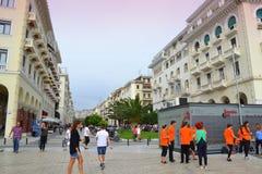 塞萨罗尼基Aristotelous广场希腊 免版税库存图片