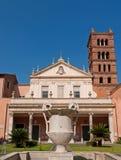 塞西莉亚教会罗马圣诞老人trastevere 免版税库存图片