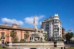 塞维利亚喷泉  库存图片