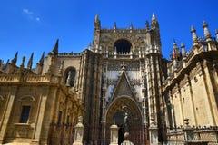 塞维利亚大教堂,老建筑学,西班牙 免版税库存照片