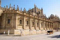 塞维利亚大教堂(圣玛丽亚de la Sede)在西班牙 免版税库存照片