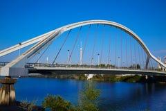 塞维利亚普恩特de la Barqueta桥梁塞维利亚 免版税库存照片