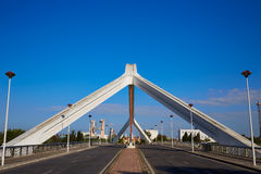 塞维利亚普恩特de la Barqueta桥梁塞维利亚 免版税库存图片