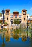 塞维利亚玛丽亚路易莎公园庭院西班牙 库存图片