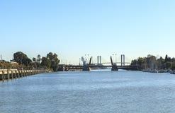 塞维利亚的,西班牙瓜达尔基维尔河河 图库摄影
