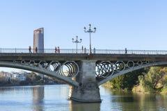 塞维利亚的,西班牙瓜达尔基维尔河河 库存图片