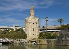 塞维利亚的Torre del Oro 免版税库存图片