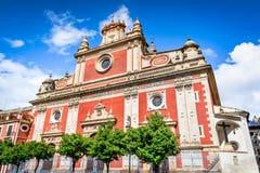 塞维利亚,安大路西亚,西班牙-萨尔瓦多教会 免版税库存照片