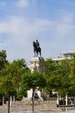 塞维利亚,西班牙的历史建筑和纪念碑 建筑细节,石门面 库存照片