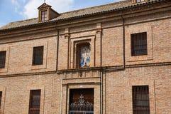 塞维利亚,西班牙的历史建筑和纪念碑 西班牙建筑风格哥特式 圣胡安de la帕尔马 免版税库存图片