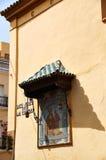 塞维利亚,西班牙的历史建筑和纪念碑 西班牙建筑风格哥特式 圣胡安de la帕尔马 免版税库存照片