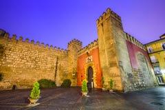 塞维利亚,西班牙皇家城堡 库存图片