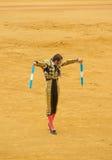 塞维利亚,西班牙- 4月, 28 :斗牛士马埃斯特腊山的胡安・何塞帕迪利亚 库存照片