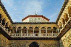 摩尔人建筑学在塞维利亚 库存图片