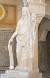 塞维利亚-古色古香的雕象的拷贝在Casa de Pilatos庭院里  免版税图库摄影