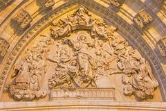 塞维利亚-圣母玛丽亚的做法安心大教堂de圣玛丽亚de la塞德主要西部门户的  免版税库存图片
