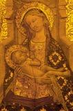 塞维利亚-在合唱词条的新生玛丹娜在大教堂de圣玛丽亚de la塞德主要教堂中殿  免版税库存照片
