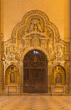 塞维利亚-大教堂de圣玛丽亚de la塞德室内巴洛克式的石西部门户  库存照片