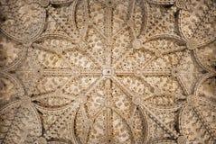 塞维利亚-大教堂de圣玛丽亚de la塞德的中央哥特式曲拱 库存照片