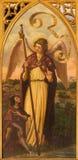 塞维利亚-天使Raphael油漆从新哥特式旁边法坛的在教会Iglesia de圣佩德罗火山里 库存照片