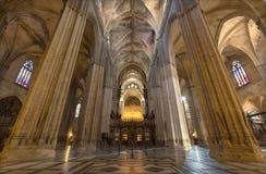 塞维利亚-室内大教堂de圣玛丽亚de la塞德 免版税库存图片