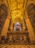 塞维利亚-室内大教堂de圣玛丽亚de la塞德 库存照片