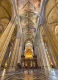 塞维利亚-室内大教堂de圣玛丽亚de la塞德 图库摄影