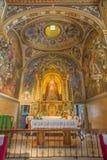 塞维利亚-新的巴洛克式的圆屋顶和长老会的管辖区教会卡皮亚圣玛丽亚 免版税库存照片