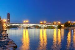 塞维利亚 桥梁伊莎贝尔II 库存图片