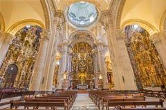 塞维利亚-萨尔瓦多(Iglesia del萨尔瓦多)的巴洛克式的教会 库存照片