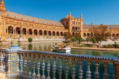 塞维利亚 西班牙正方形或Plaza de西班牙 库存图片