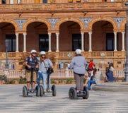 塞维利亚 西班牙正方形或Plaza de西班牙 免版税库存图片