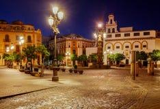 塞维利亚 Plaza de la Virgen los雷耶斯 图库摄影