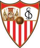 塞维利亚FC商标西班牙人俱乐部 免版税库存照片