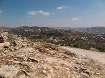 塞巴斯蒂安、古老以色列、废墟和挖掘 免版税图库摄影