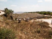 塞巴斯蒂安、古老以色列、废墟和挖掘 免版税库存图片