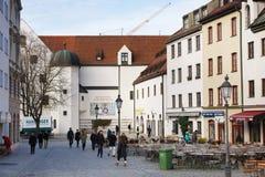 塞巴斯蒂安广场在慕尼黑 库存照片