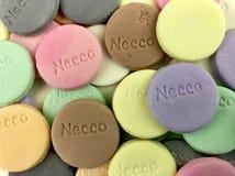 填装框架的Necco薄酥饼 库存图片