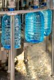 填装的瓶用水 免版税库存图片